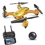 ScharkSpark Drohne -The Wasp Drohne mit 1080p 120° FPV HD-Kamera/Video, RC Toy Quadcopter ist mit G-Sensor-Technologie, Schwebetechnologie, 3 Geschwindigkeitsstufen, 360 Flip
