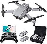 Tomzon D25 4K Drohne mit Kamera Faltbare FPV Drohne für Erwachsene, Lichtpositionierung, Handgestenfotografie, Bahnflug, 3D Flips, Fotofilter, Kopfloser Modus, Geteilter Bildschirm, 2 Akkus
