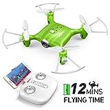 FPV Mini Drohne Syma X21W 2.4 GHz mit 6 Achsen Gyroskop RC Quadcopter 3D Flip EIN Schlüssel Start / Landung, Headless Modus Pocket Drone für Anfänger Kinder-Grün