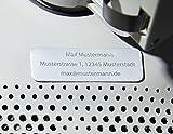 Roboterwerk Drohnen-Kennzeichen aus Aluminium Micro, Drohnenplakette, Plakette Quadrocopter, Kennzeichen Drohne, Drohnenkennzeichen, Drohnen Kennzeichnung, Drohnenkennzeichnung, Modellflug